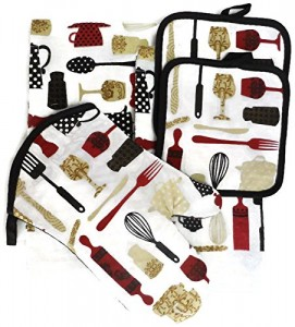 Cooking Gadgets & Utensils 5 Piece Kitchen Towel Set