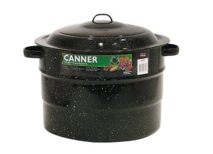 Granite Ware 0707-1 SteelPorcelain Water-Bath Canner with Rack, 21.5-Quart, Black