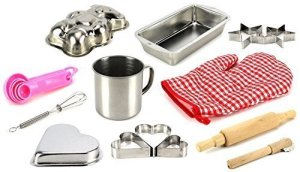 My Little Kitchen Baking Tools Set of 14 Pretend Play for Kids