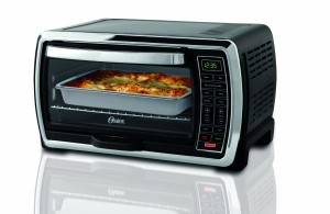 Oster Large Capacity Countertop 6-Slice Digital Convection Toaster Oven, BlackPolished Stainless, TSSTTVMNDG
