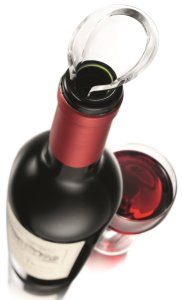 Vacu Vin Crystal Wine Server Pourer, Set of 2 - Black