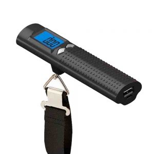 Build Excellent ® Digital Hanging Postal Luggage Scale with Power Bank & LED Flashlight