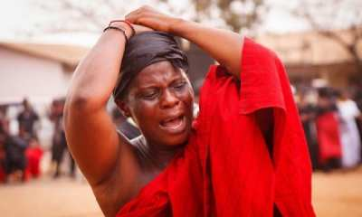File Image of a Ghanaian women crying at funeral