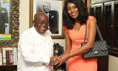 Akufo-Addo and Yvonne Nelson