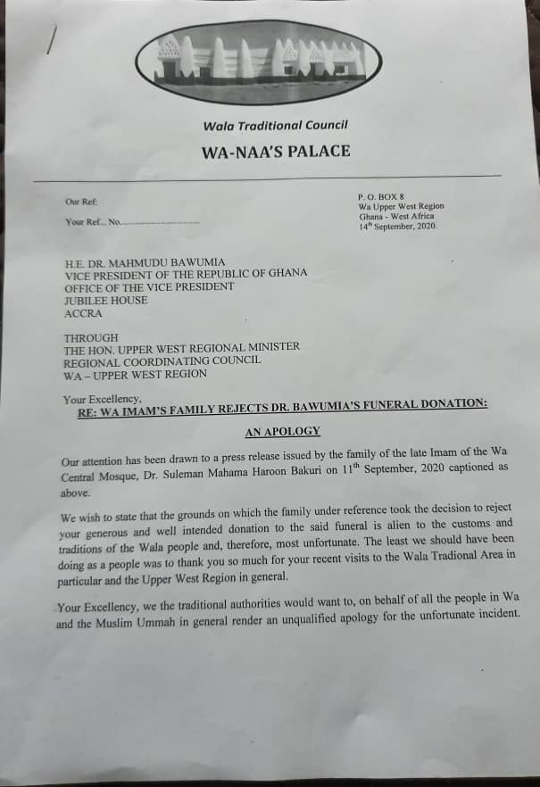 Northern Regional House Of Chiefs Apologizes Dr. Bawumia. 4