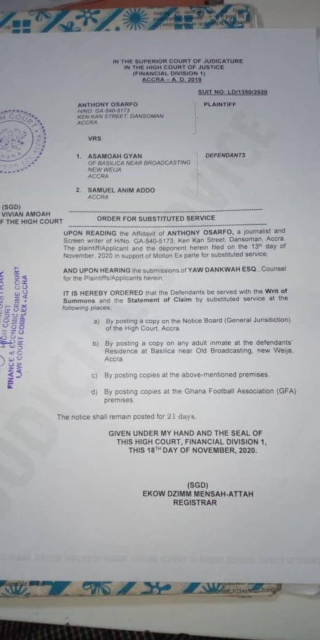 Asamoah Gyan, Manager slapped with GHS1m suit over extortion and rape case 2