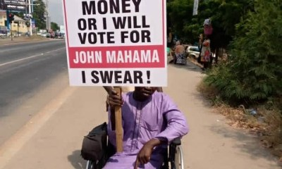 """""""Give me money or I'll vote for Mahama"""" campaign hit Accra Streets"""