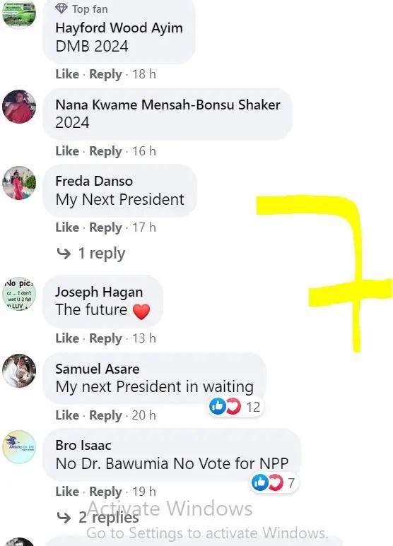 10 Screenshots: NPP loyalists 'invade' Akufo-Addo's Facebook page; demand Bawumia 2024 9