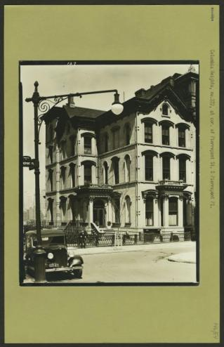 222 Columbia Heights, in Brooklyn Heights. This grand home was replaced by this ugly monstrosity below/NYPL Digital Collections