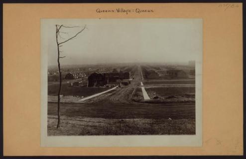 """215th Place at Spencer Avenue in Queens Village in 1927 as """"Jamaica Hillside"""" development was going up/NYPL Digital Collections"""
