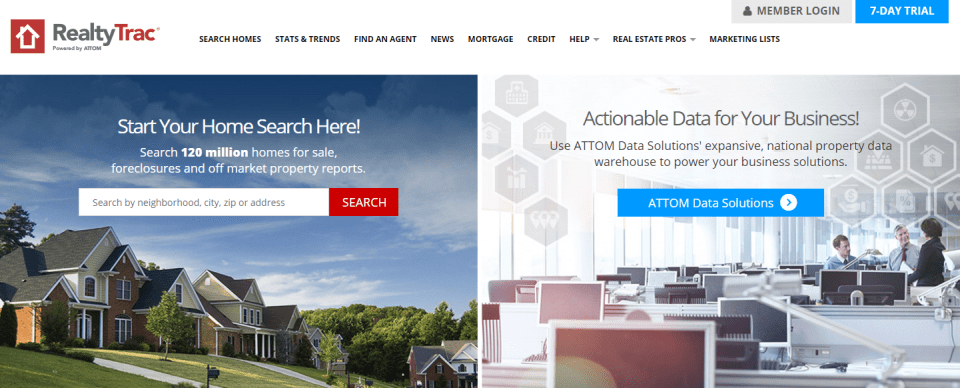 realtytrac Websites to Search for Commercial Real Estate