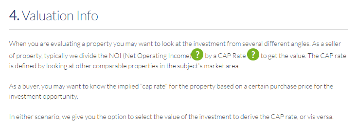 investment property valuation calculator