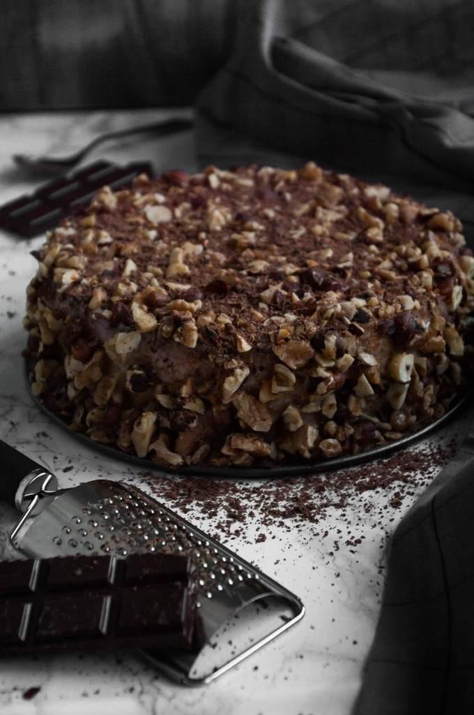 Potato almond cake