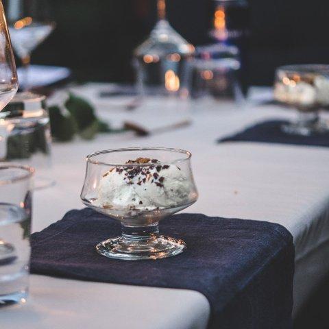 Nordic Suppers | Vanilla Ice Cream with Rye Crisp & Blackberry Sauce