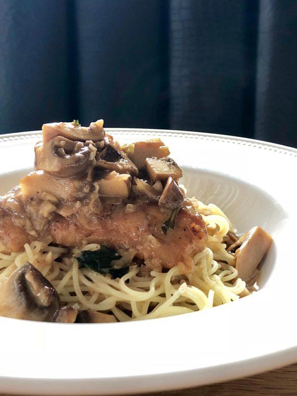 Chicken Marsala Capellini