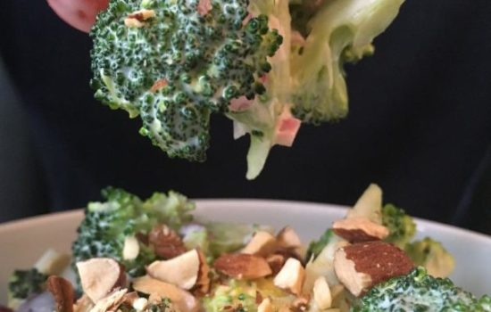 Broccoli Salad With Red Grapes