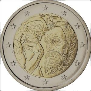2 euro jubileumsmynt Auguste Rodin