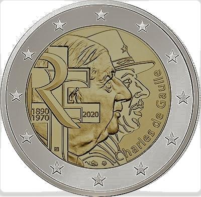 2 euro Charles de Gaulle