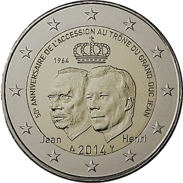 2 euro Jean av Luxemburg