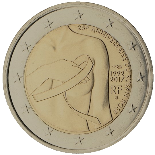 2 euro rosa bandet