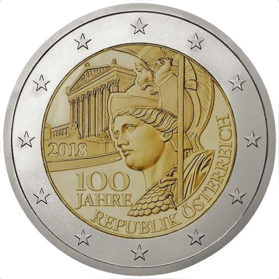 2 euro Republiken Österrike