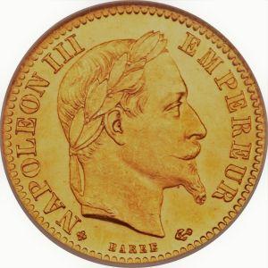 10 Francs Napoleon III guldmynt - Halv Louis d'or
