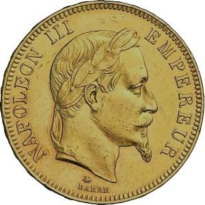100 Francs Napoleon III guldmynt - Kvadrupel Louis d'or