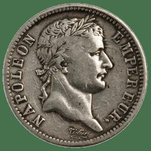1 Franc Napoleon I silvermynt