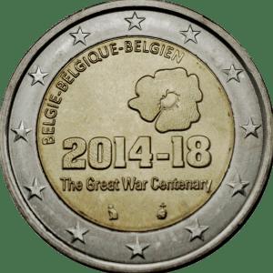 2 euro 100-årsminnet av första världskrigets
