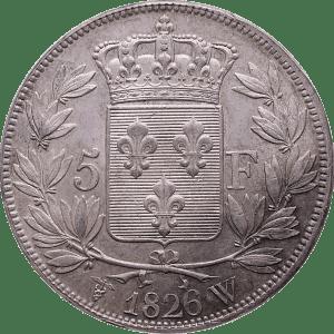 5 Francs Karl X av Frankrike