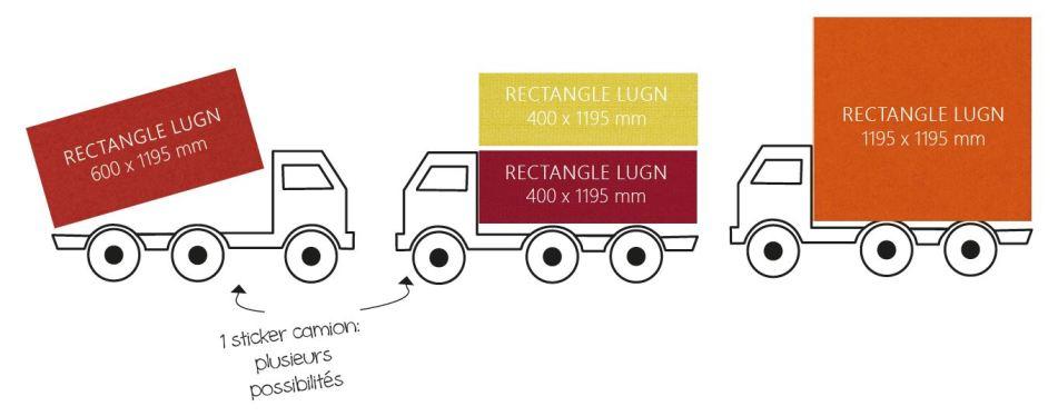 panneaux acoustiques rectangles sticker camion myOpenspace LUGN