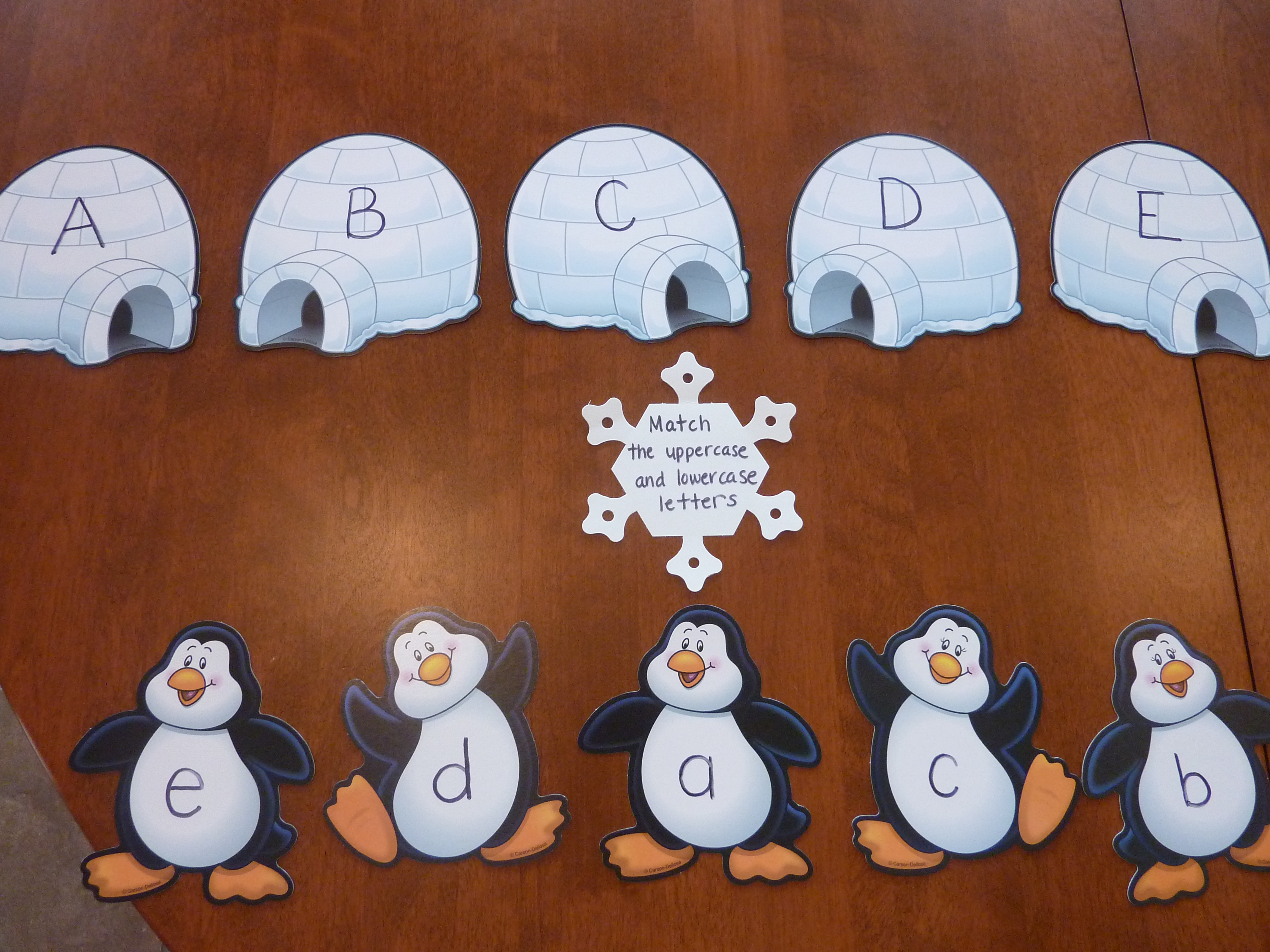 Winter Themed Uppercase And Lowercase Letter Matching Game