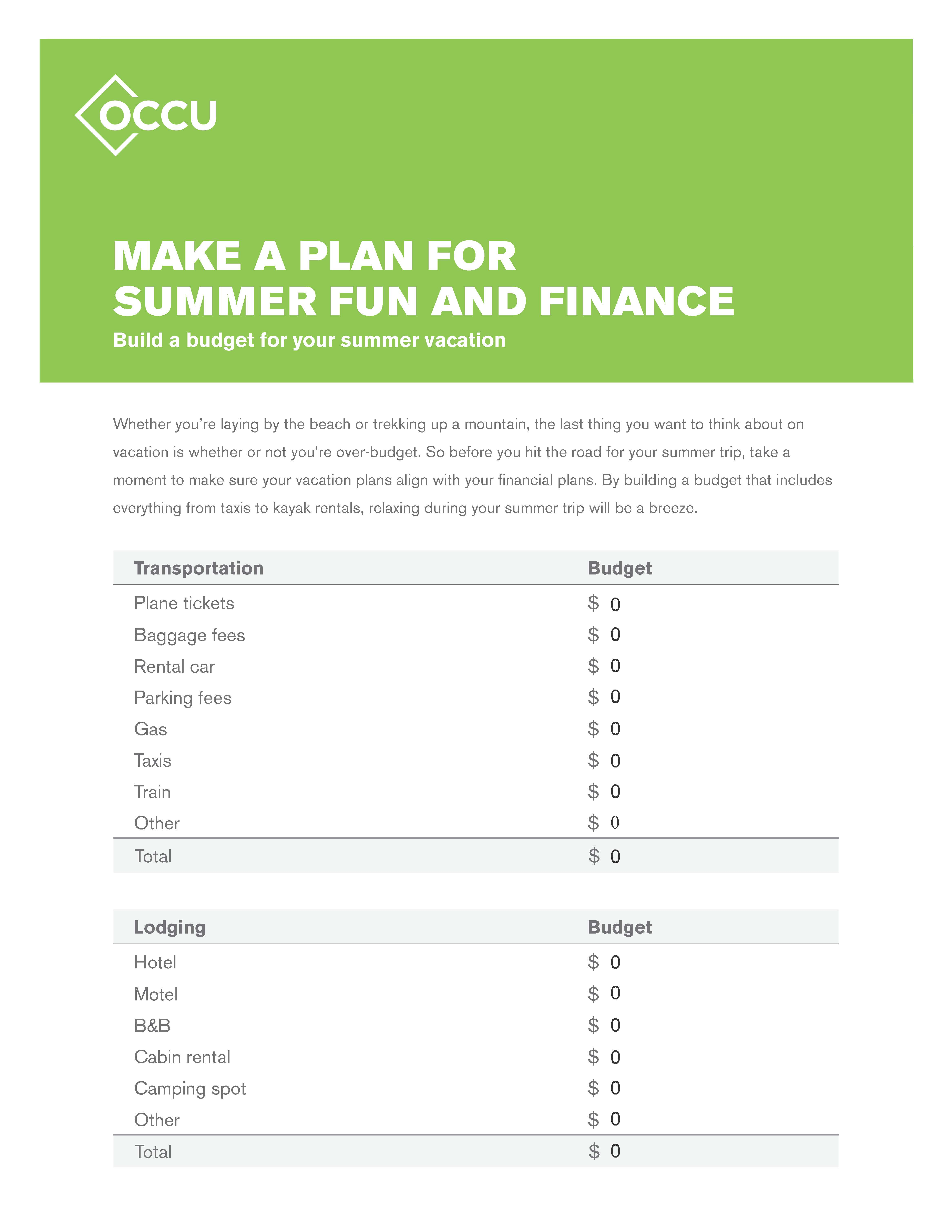 Simple Tips For Vacation Budgeting