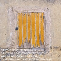 A Closed Door Lets Nothing In, 1/14 in the Walking With Angels Collection, by Melanie Gow. Limited Edition Photographic Art Print