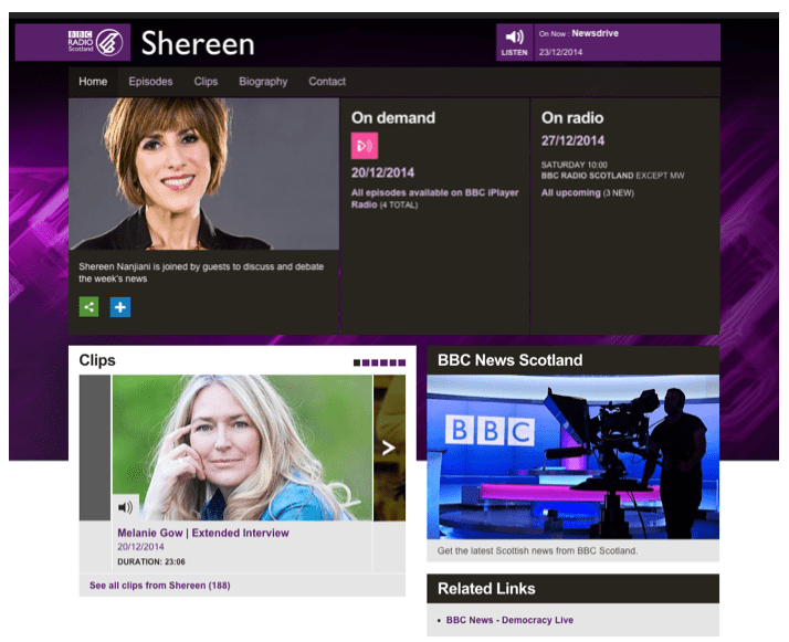 Shereen Nanjiani hosts Melanie Gow as her guest on BBC Radio Scotland