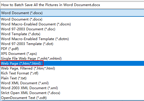 How to Batch Save All the Pictures in Word Document