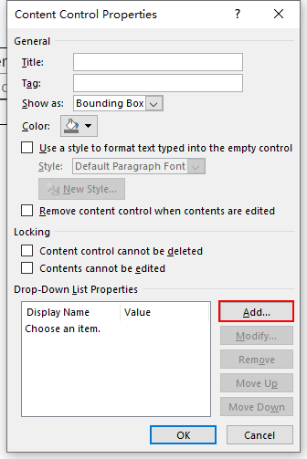 How to Add a Drop-down List in Word