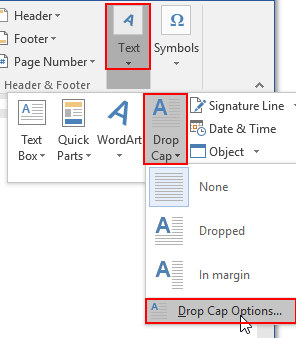 How to Insert a Drop Cap in Word Document