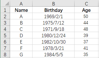 How to Calculate Ages from Birthdate Automatically in Excel