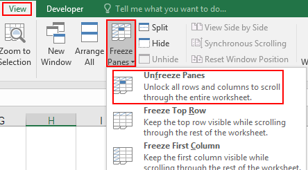 How to Freeze Specific Cells in Microsoft Excel