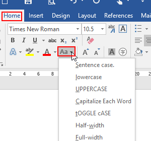 2 Methods to Change Text Case in MS Word Document