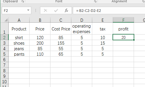 How to Insert a Formula to Do Calculations in Microsoft Excel