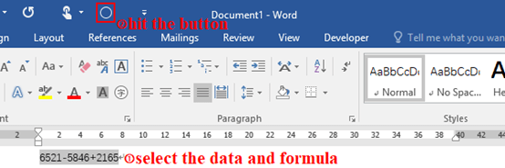 How to Activate the Calculation Function in Word