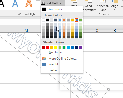 How to Add Watermark to Excel