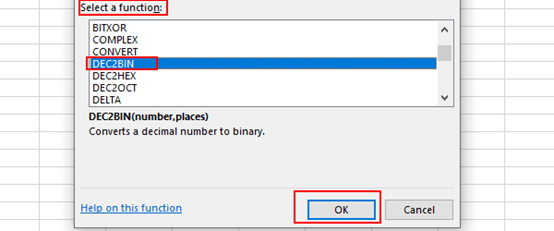 How to Convert Decimal Number to Binary Number in Excel