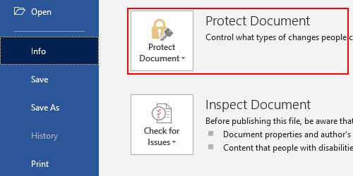 How to Protect a Document with Password in Word 2019