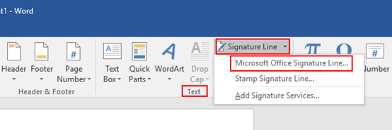How to Insert a Signature Line in Microsoft Word