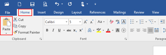 How to Set Default Paste Option in Microsoft Word