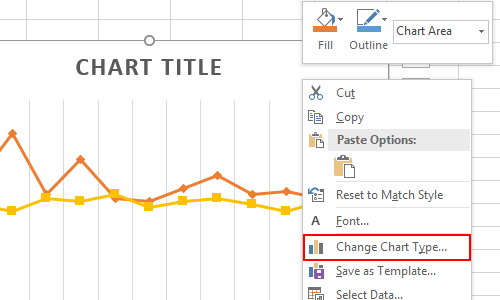 How to Change the Type of an Existing Excel Chart