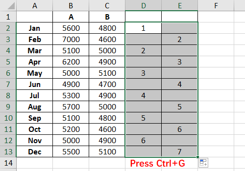 How to Insert Alternate Blank Rows in Excel Spreadsheet